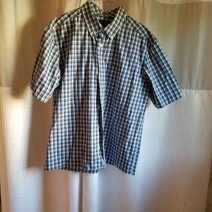 Blue Plaid Short Sleeve Shirt